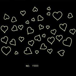 Love Hjärta Luminous Fluorescerande Bakgrund Tecknade Väggdekal