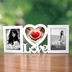Love Shape Wooden Combined Photo Frame Wall Hanging Picture Frame