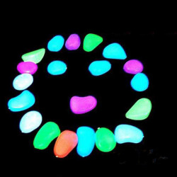 Luminous Light-emitting Kunstig Fisk Tank Dekoration Pebble Stone