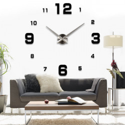 Luxus DIY 3D Wanduhr Home Decoration Spiegel Art Clock