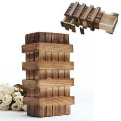 Magie Fach Wooden Puzzle Box mit Geheimfach Denkaufgabe