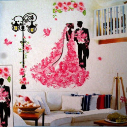 Verheiratete Paare Liebe Witness Wandsticker