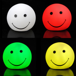 Mini Changing 7 Color LED Smile Face Party Candle Light