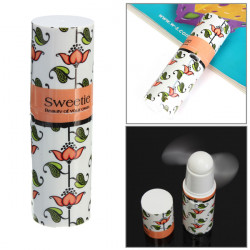 Mini Portable Pocket Compact Lipstick Lip Shap Cooler Fan