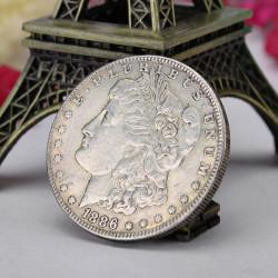 Morgan Drottning Mynt MINNES Gammalt Mynt Imitation Utländsk Valuta