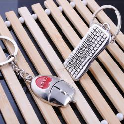 Maus Tastatur Paar Schlüsselbund Valentinstag Liebhaber Geschenk