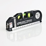 Multipurpose Laser Level Aligner 3 Bubbles Measuring Tape Ruler Home Decor