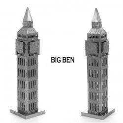 Nano Metallic 3D DIY Big Ben Jigsaw Puzzle No Glue Kid Toy