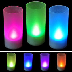 New Flicking LED 7 Color Change Flameless Flicking Light Candle