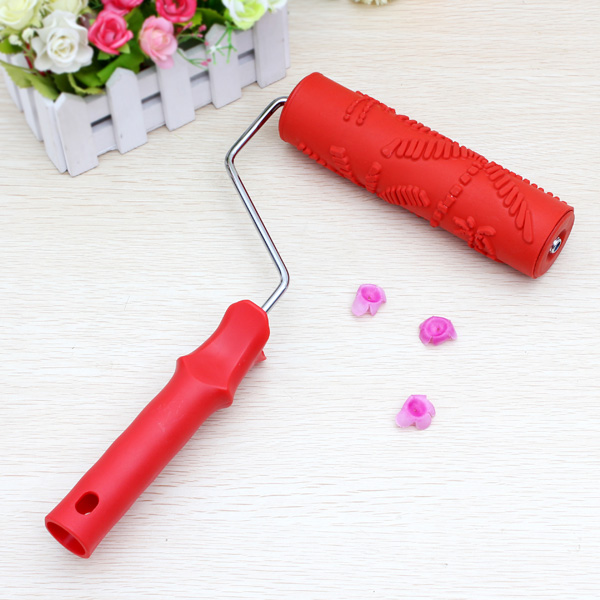 No.007 Wall Decoration Tools 7Inch Rubber Embossed Roller Home Decor