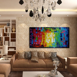 No Framed Modern Abstract Oil Painting Huge Art Canvas Wall Decor