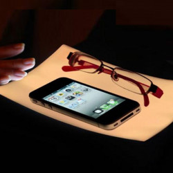 Novely Induction Touch LED Glasses Small Night Lamp