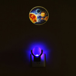Optically Controlled Projection 360 Degree Rotation Small Night Light