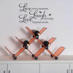 PVC Levande Kärlekskratt Letters Vägg Klistermärke Dekalen Affisch Löstagbar