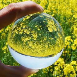 Sjeldne Natural Quartz magiske Crystal Healing Ball
