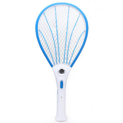 Laddningsbara Elektriska Mygga Fly Pest Killer Zapper Racket Med LED
