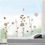 Aftagelig Brown Blomster Og Planter Wal Sticker Rum Decor Sticker Boligudstyr