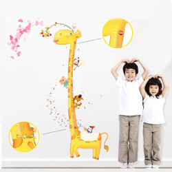 Aftagelig Giraffe Højde Wallsticker Home Decor Decal Plakat