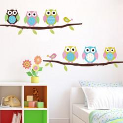 Löstagbar Uggla Fåglar Branch Vinyl Kids Room Väggdekaler