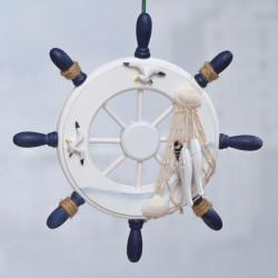 Retro Schiff Ruder Modell Steuermann Ausgangswand Dekoration
