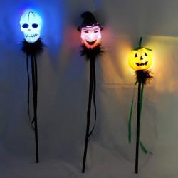 Skull Hoved Witch Pumpkin Form Halloween LED Blinkende Bar Glow Stick