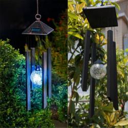Solar Färgar Att Ändra LED Lampa Wind Chimes Trädgård Decor