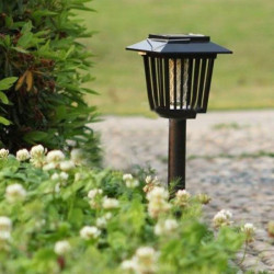 Solar Powered Mosquito Pest Zapper Laterne LED Lampen Licht