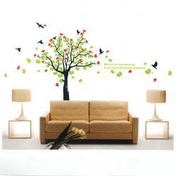 Frühlings blühender Baum Vogel PVC Wandaufkleber Tapete 2180