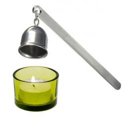 Rostfritt Stål Candle Snuff Flamer Tool Silver Långt Skaft Satte Ut Fire