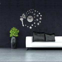 Star Elfin Fairy 3D DIY Clock Mirror Väggdekal Modern Heminredning Dekal