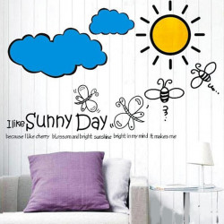 Suany Day Wallstickers Stue Soveværelse Decor Sticker Hjem Decal