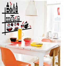 Tableware Wall Sticker Kitchen Utensils Removable Wall Stickers