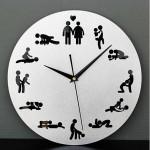 The Clock of Sex Fun 12 Sex Posture Väggklocka Mode Heminredning Heminredning