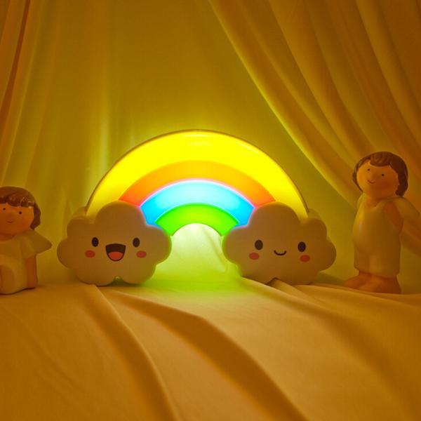 Intelligent Färgglada Regnbåge Belysning Klappade Ljus Heminredning