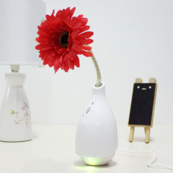 USB LED White Daisy Flower Vase Air Purifier Smoke Dust Cleaner