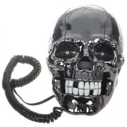 Unik Sort Skull Skeleton Formet Fastnet Telefon