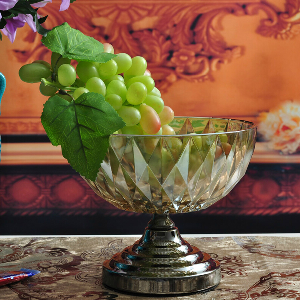 Vintage Dry Fruit Tray Crystal Glass Fruit Plate Home Decoration Home Decor