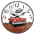 Weinlese Wanduhr Auto Rustic Home Office Cafe Bar Dekoration Kunst Haus Dekoration