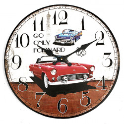 Vintage Wall Clock Car Rustic Home Office Cafe Bar Decoration Art
