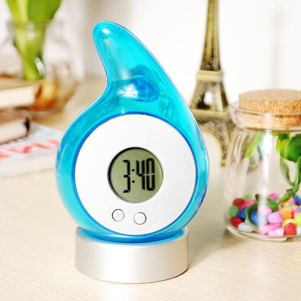 Water Power Clock Low Carbon Umwelt Uhr LED Digitaluhr Haus Dekoration