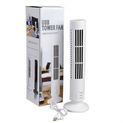Vit Praktiskt PC USB Tower Cooler Hög / Låg Slots Kylning Desk Fläkt
