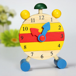 Trä Learning Time Clock Intellektuella Utveckling Löstagbar Clock
