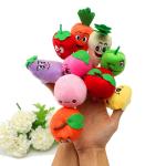 10 st Plush Finger Puppets Doll Frukt Grönsaker Ställer baby leksaker