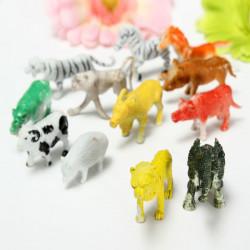 12 Blandet Wild Dyr Zoo Tal Baby Kid Gavesæt