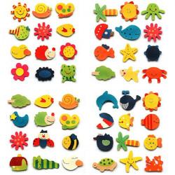 12st Tecknade Kitchen Magneter Barn Pedagogiska Träleksak