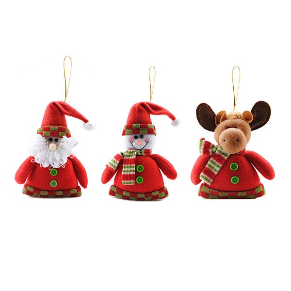 17*11cm Fabric Christmas Gifts Ornaments Santa Claus Snowman Elk Baby & Mother Care