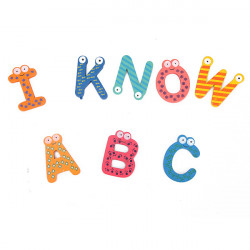 26/Lot Kid Baby Wooden Fridge Magnet  Letters Alphabet Sticker Toy