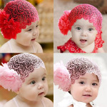 2 Colors Baby Girl Flower Lace Bow Elastic Hairband HeadBand Baby & Mother Care