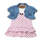 2stk Rosa Blau Baby Top Schal Kleid Rock Outfit Set Anzug Baby Kinder & Mutterpflege