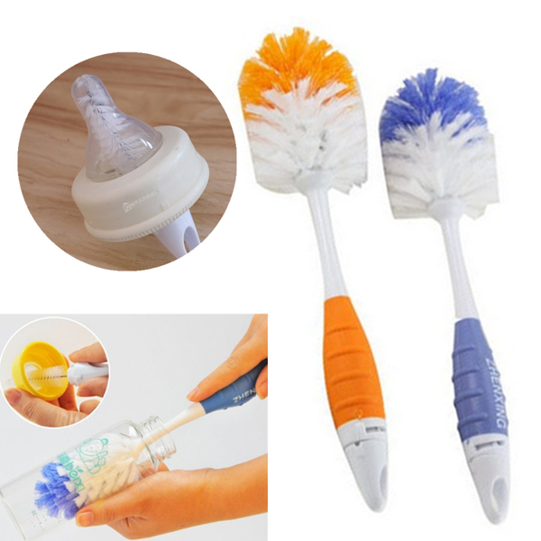 2 in 1 Baby Milk Feeding Bottle Nipple Teapot Nozzle Spout Tube Cleaning Brush Baby & Mother Care